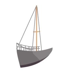 Sailing ship icon cartoon style vector