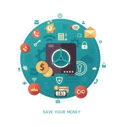 Save your money - modern flat design business vector image