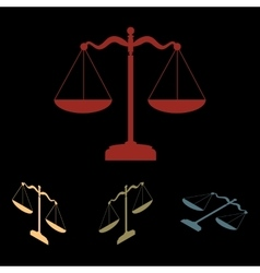 Scales balance icon set vector image