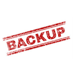 Scratched textured backup stamp seal vector