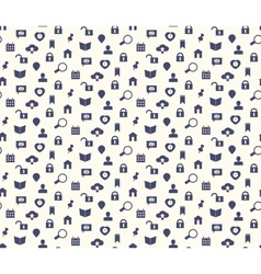 Seamless web icons and simbols pattern vector