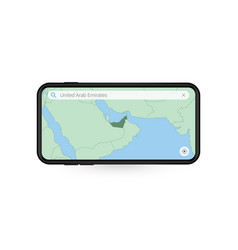 Searching map united arab emirates vector