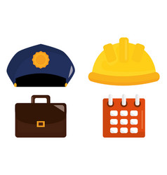 Set labour day icons vector