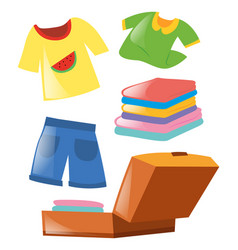 Set of different clothes vector