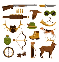 Shooting And Hunting Set vector image