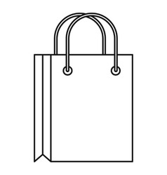 Shopping bag icon outline style vector image