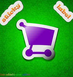 Shopping basket icon sign Symbol chic colored vector image