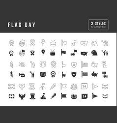 simple icons flag day vector image