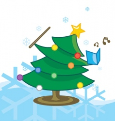 Singing Christmas tree vector