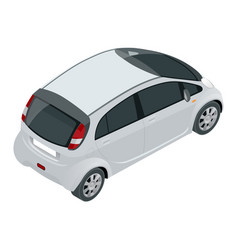 small compact electric vehicle or hybrid car eco vector image