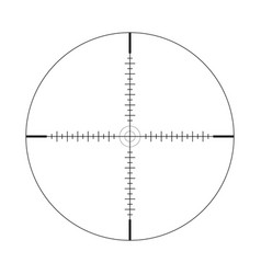 Sniper scope crosshairs with tick marks icon vector