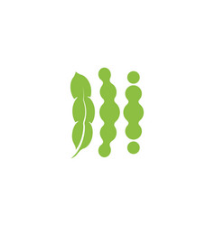 soybeans icon isolated abstract green color vector image