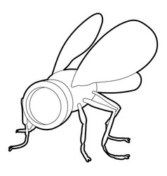 Spy fly icon outline style vector