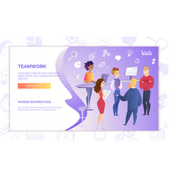 teamwork in business web banner template vector image
