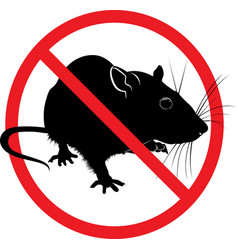the prohibition sign of the rat vector image