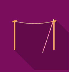 Tightrope icon in flat style isolated on white vector