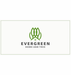 Tree and house logo design inspiration vector