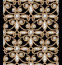 vintage gold jewellery pattern vector image
