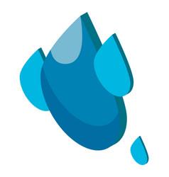 water drop icon water symbol purity vector image