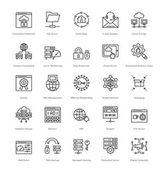 Web and seo line icons 58 vector