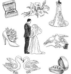 Wedding pictures vector