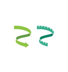weight loss diet measure tape meter ribbon logo vector image