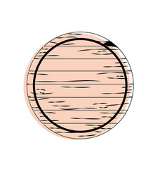 Wood emblem element to decoration design vector