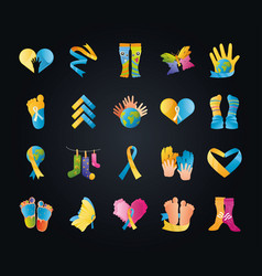 World down syndrome day support awareness vector