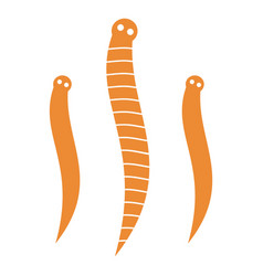 Worms icon vector