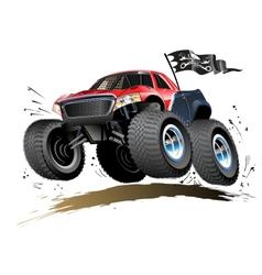 Cartoon monster buggy vector