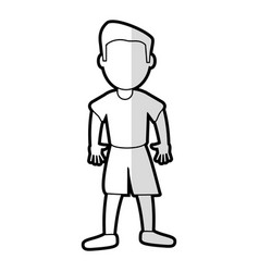 cartoon son boy standing vector image