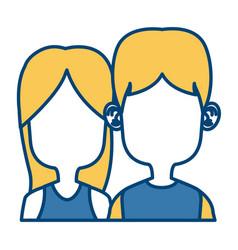 cute kids friends cartoon vector image vector image
