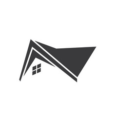 home roof icon logo vector image