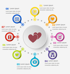 infographic template with love icons vector image vector image