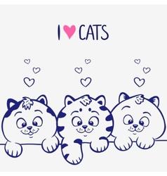three kittens vector image vector image
