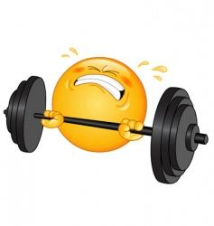 weightlifter emoticon vector image vector image