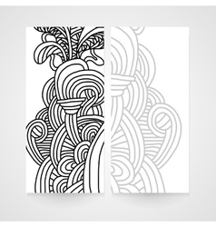 Abstract banner with zentangle ornament vector image vector image