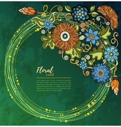 Greeting card with flowers Background for web vector image vector image