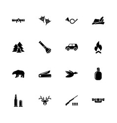 hunting - flat icons vector image
