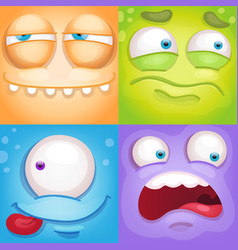 monster faces vector image