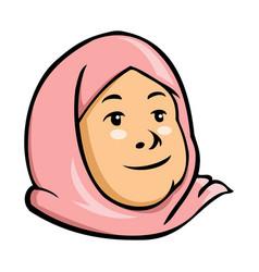 moslem kid girl vector image vector image