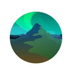 Northern Lights Round vector image