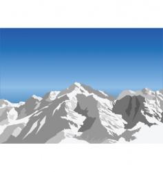 Snow landscape vector