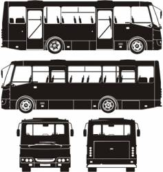 city bus silhouettes vector image
