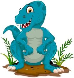 funny tyrannosaurus cartoon posing vector image vector image