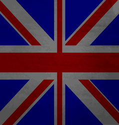 Grunge messy flag kingdom of Great Britain vector image vector image