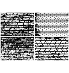 Set of Abstract Grunge Brick Wall vector image