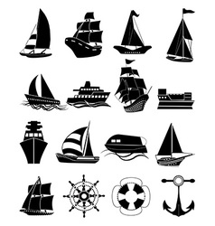 Ships icons set vector image vector image