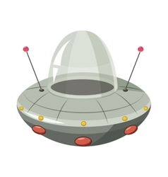 Ufo spaceship icon cartoon style vector image