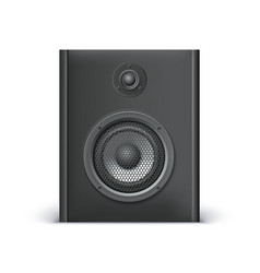 Black sound speaker vector image vector image
